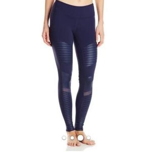 Alo motto leggings in navy